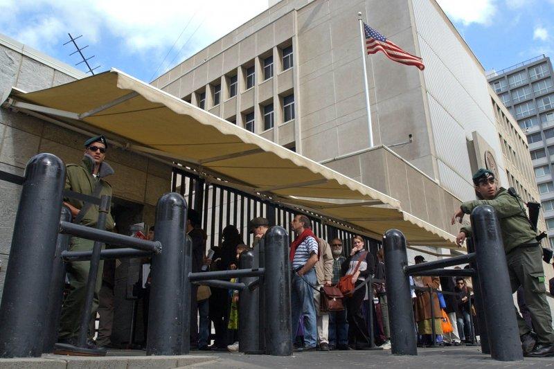 美國駐以色列大使館目前位於特拉維夫(AP)