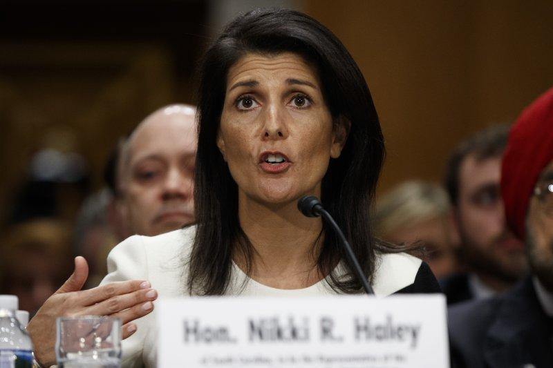 美國駐聯合國代表黑利宣布,美國徹底退出聯合國人權理事會。(AP)