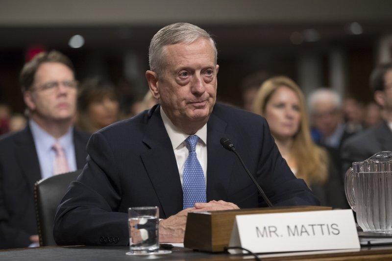 美國國防部長馬提斯(James Mattis)(AP)