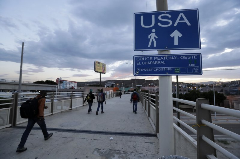 美墨邊境,提華納一帶。(美聯社)