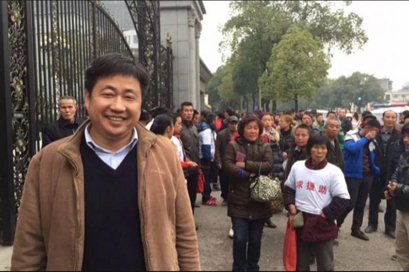709大抓捕時被羈押的維權律師謝陽。