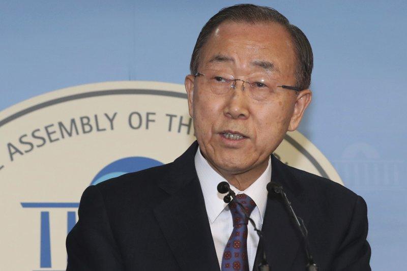 聯合國前秘書長潘基文1日宣布棄選下屆南韓總統。(美聯社)
