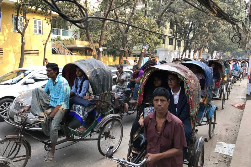 孟加拉首都達卡街景。(陳牧民提供)
