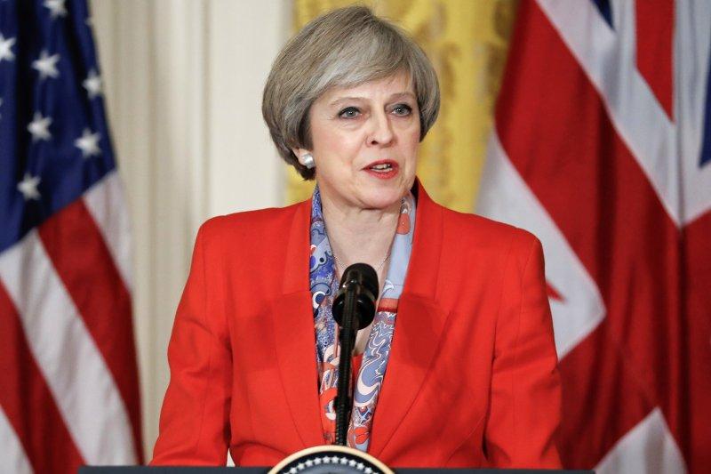 英國首相梅伊(Theresa May)(AP)