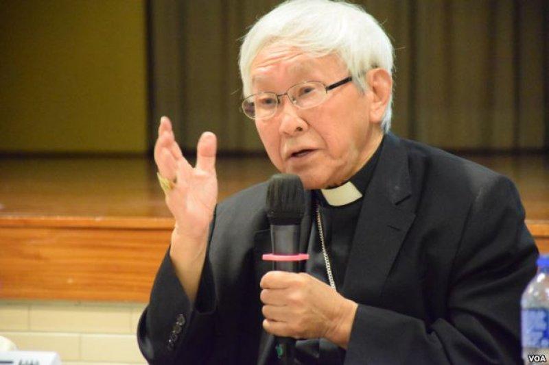 香港教區榮休主教陳日君樞機(美國之音)