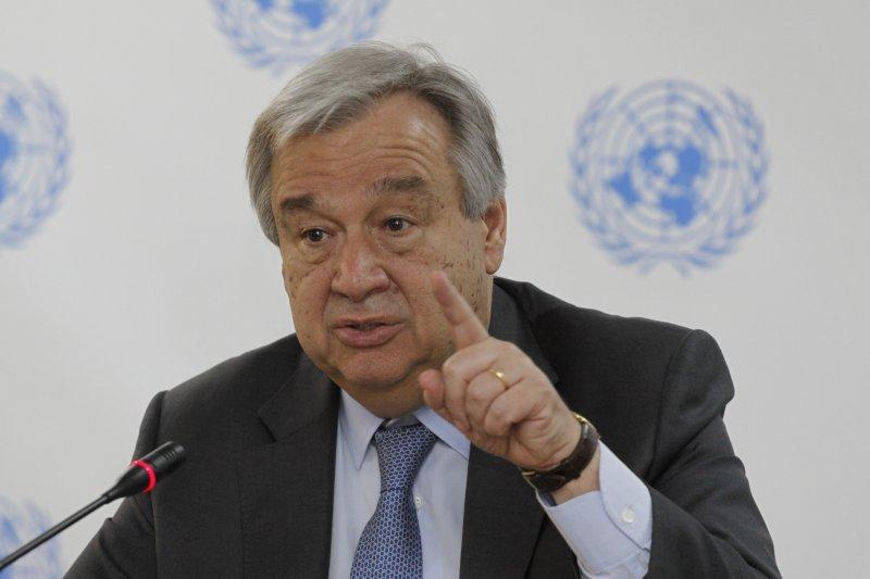 聯合國秘書長古特雷斯(António Guterres)。(美聯社)