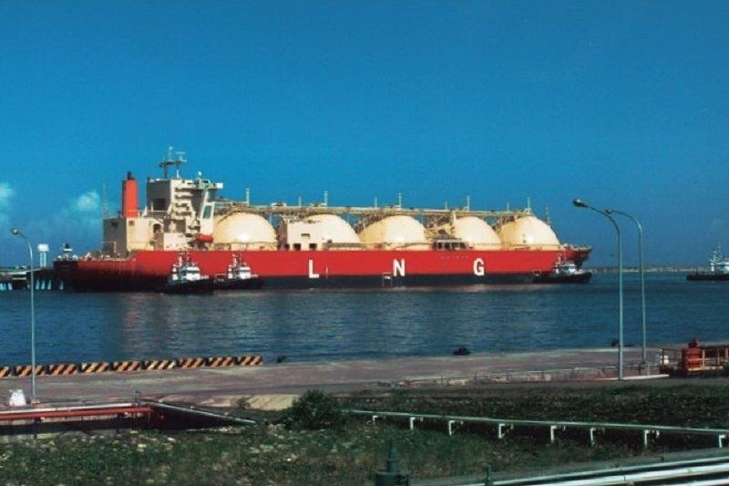 液化天然氣(LNG)輪船。(作者提供)