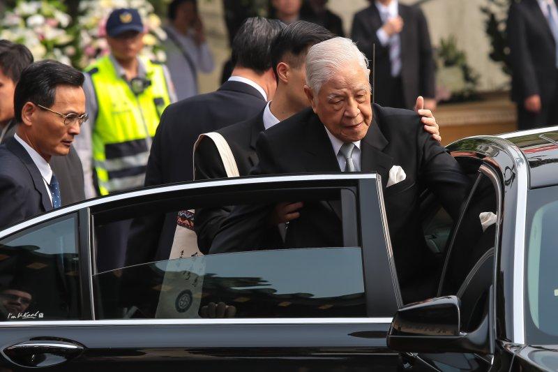 20170331-前總統李登輝31日出席「李前副總統元簇先生追思祝福會」。(顏麟宇攝)