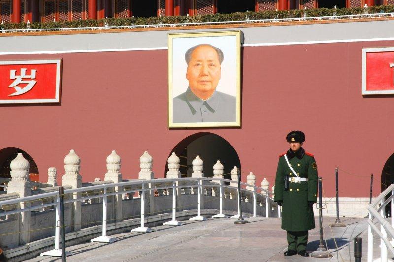 天安門廣場的毛澤東像。(取自pixabay)