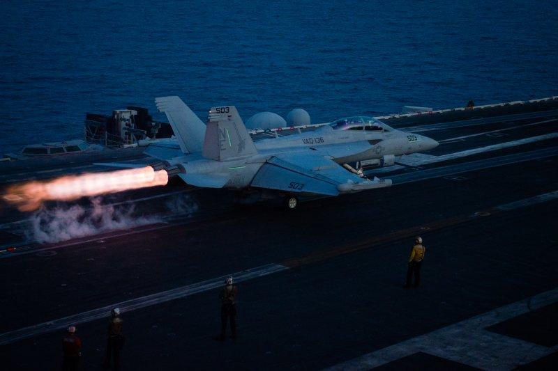 卡爾文森號航母4月中旬在南海一帶演練。(美國海軍官網)