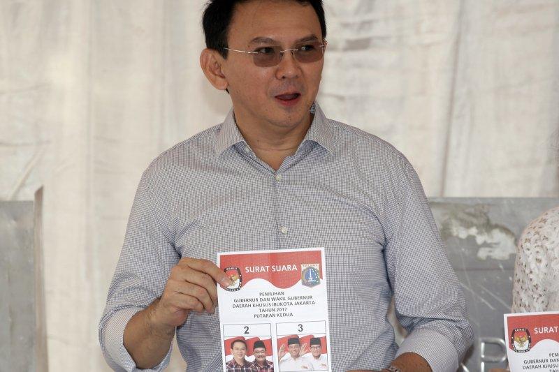 雅加達省長選舉:現任省長鐘萬學得票暫時居次(AP)