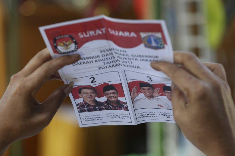 印尼雅加達省長選舉第2輪投票(AP)