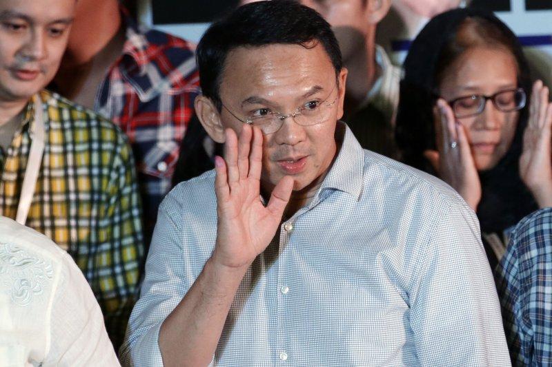 印尼雅加達首長選舉,現任華裔首長鍾萬學落敗。(美聯社)
