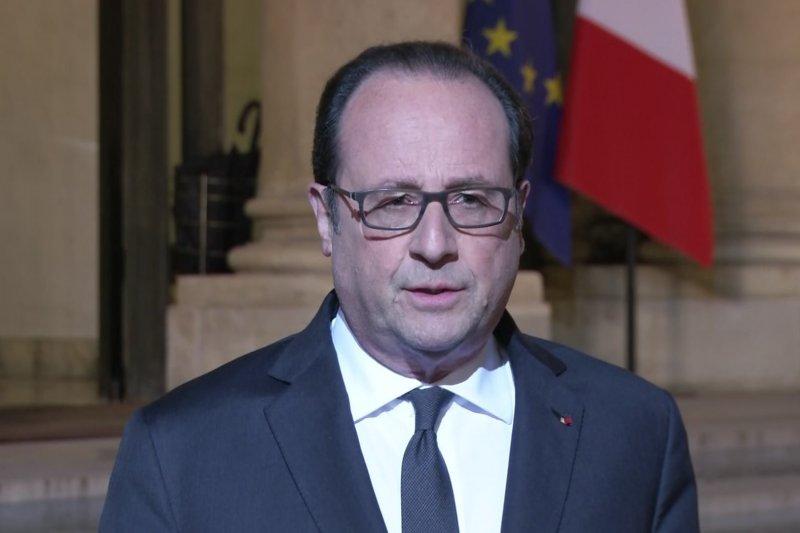 歐蘭德宣誓要維持國民安全、並讓法國大選順利進行。(美聯社)