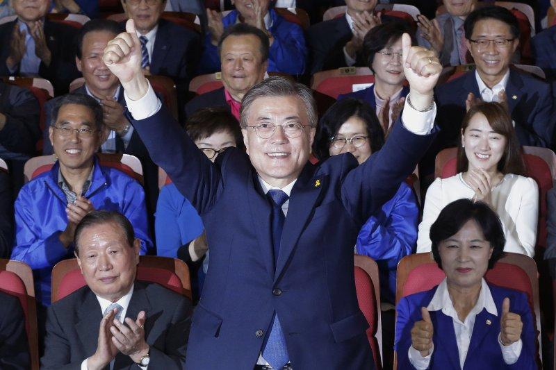 南韓新任總統當選人文在寅(美聯社)