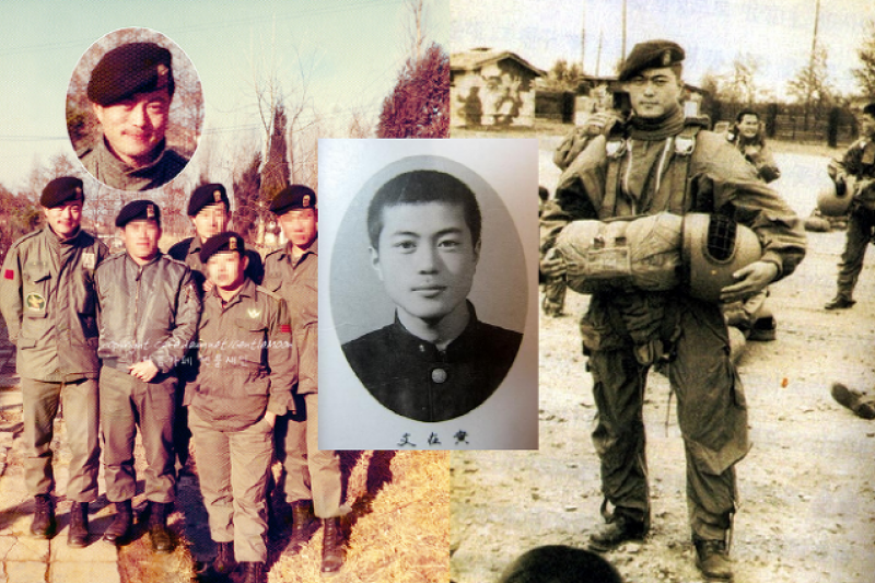 文在寅因為學運被拉去充軍,成為特種部隊第一空降團的一員。