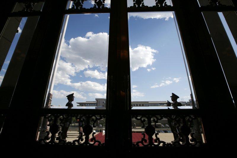 一帶一路高峰會:開幕式當天出現藍天(AP)