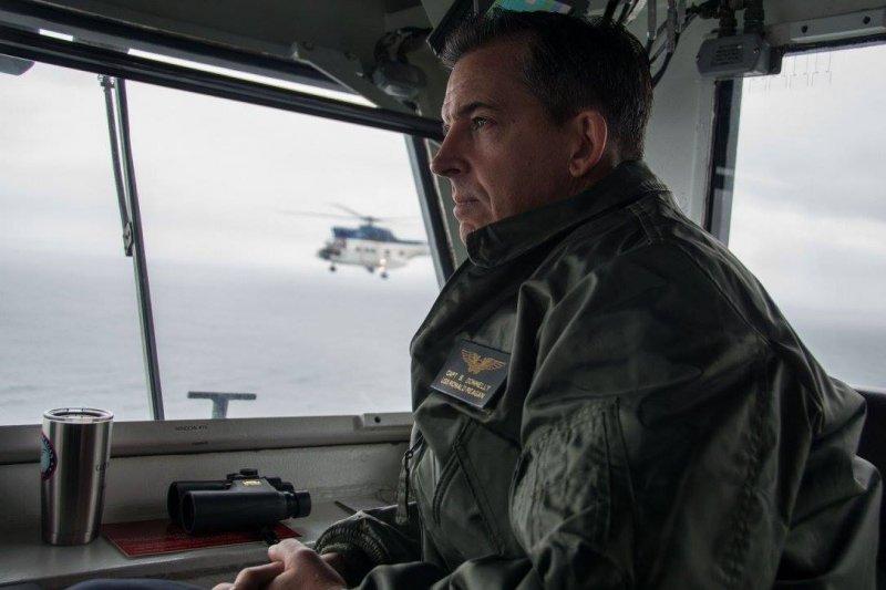美國海軍雷根號(USS Ronald Reagan)航空母艦的艦長唐納利(Michael Buzz Donnelly)(雷根號臉書)