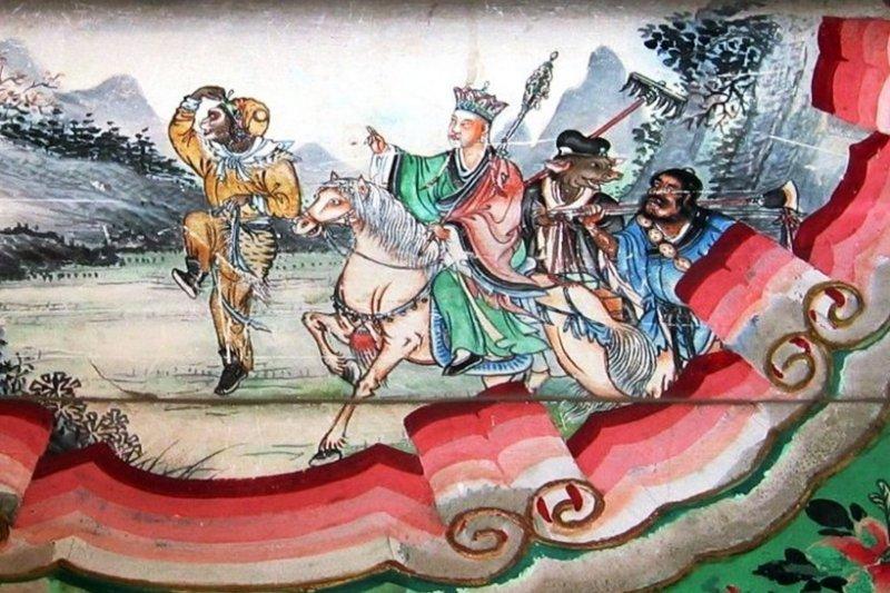 民間一般都認為天蓬元帥與豬八戒為同一神,然而兩者應分屬不同發展脈絡...(圖/wikimedia commons)