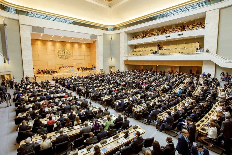 世界衛生組織(WHO)世界衛生大會(WHA)22日在瑞士日內瓦登場(AP)