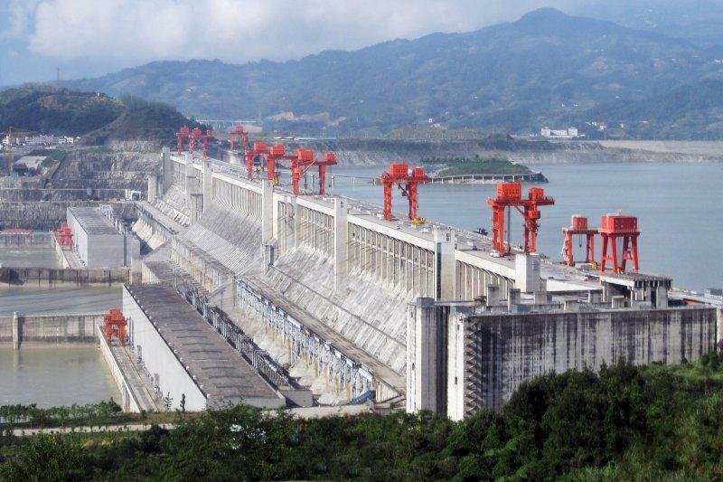 2009年9月的三峽大壩。(LeGrandPortage@wikipediaCCBY2.0)