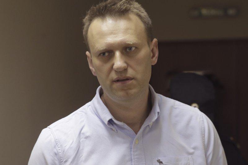 反對派領袖、俄羅斯反貪腐行動發起人納瓦尼(Aliei Navalny)在抗議活動前遭到警方逮捕。(美聯社)