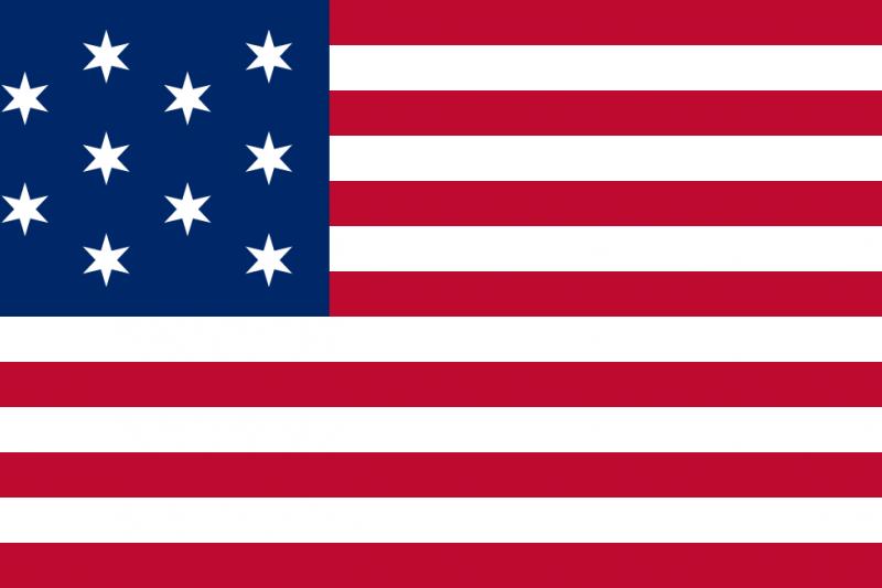 霍普金森設計的美國國旗(Wikipedia/Public Domain)
