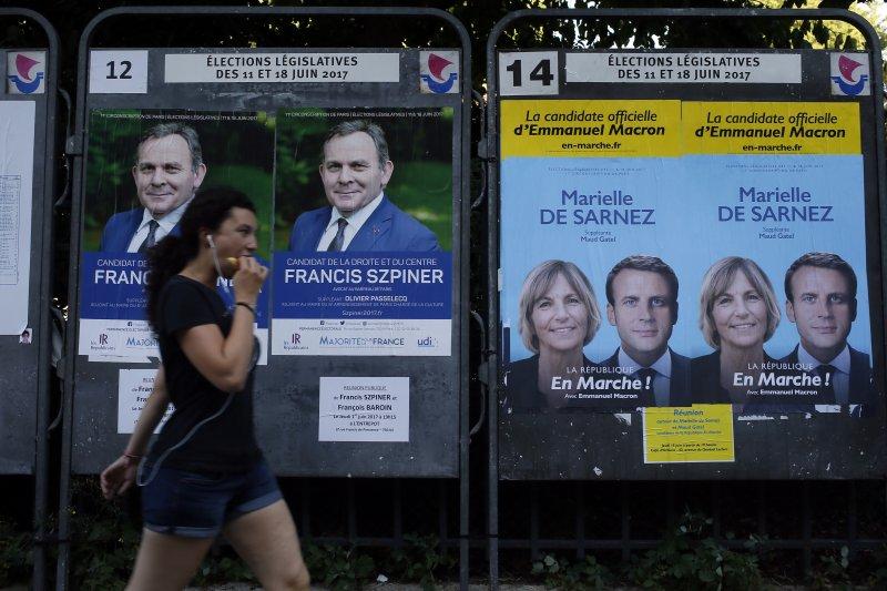法國國會大選情勢底定,馬克宏領導的「共和國前進」及盟友取得絕對優勢。(美聯社)