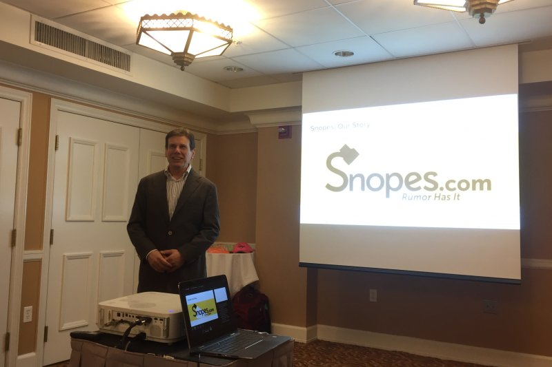 美國事實查核網站Snopes.com創辦人米克森(簡恒宇攝)