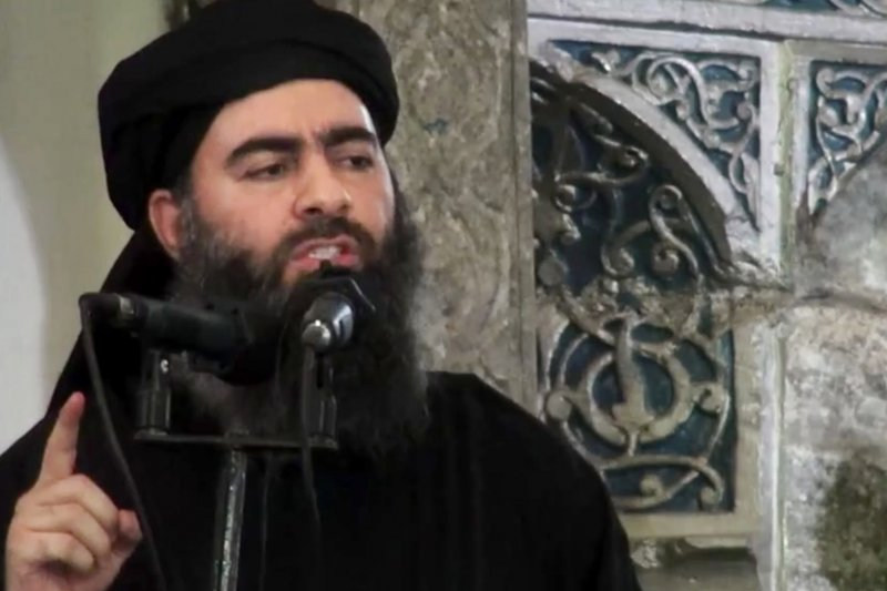 IS領袖巴格達迪,就是在努爾大清真寺宣布「登基」為哈里發。(美聯社)