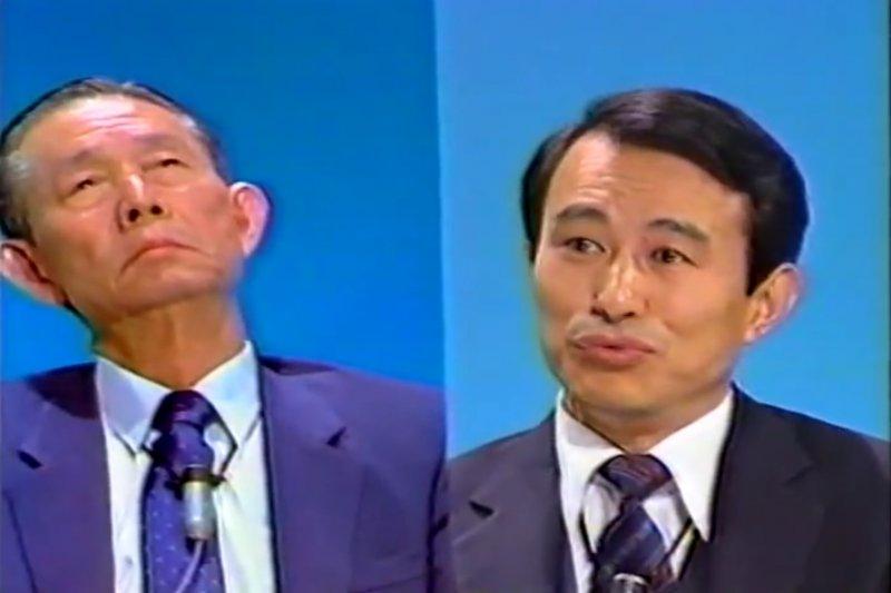 陳定南與王永慶公開電視辯論。(圖/作者翻攝自YouTube|想想論壇提供)