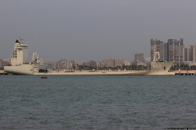 中國駐吉布地軍事基地:「868東海島號」是中國首艘「半潛船」(翻攝網路)