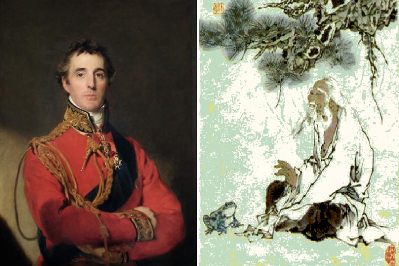 威靈頓公爵與莊子。(圖/維基百科,風傳媒合成)
