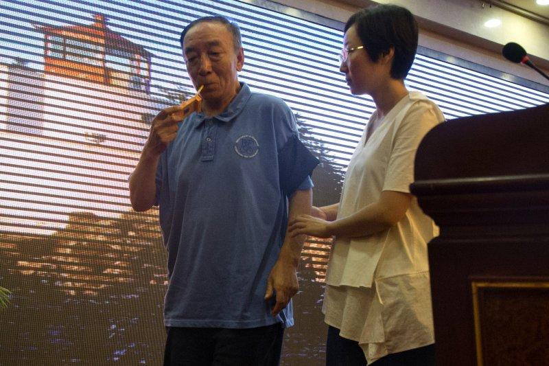 2017年7月15日,��圆ǖ男珠L��怨獬鱿�官方安排的�者��,�f明��圆ǖ暮T峤��^(AP)