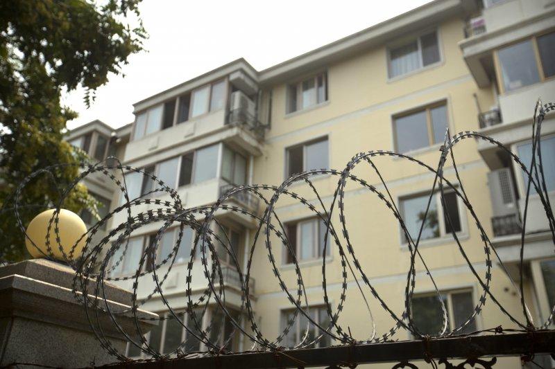 劉霞在北京的寓所。(美聯社)