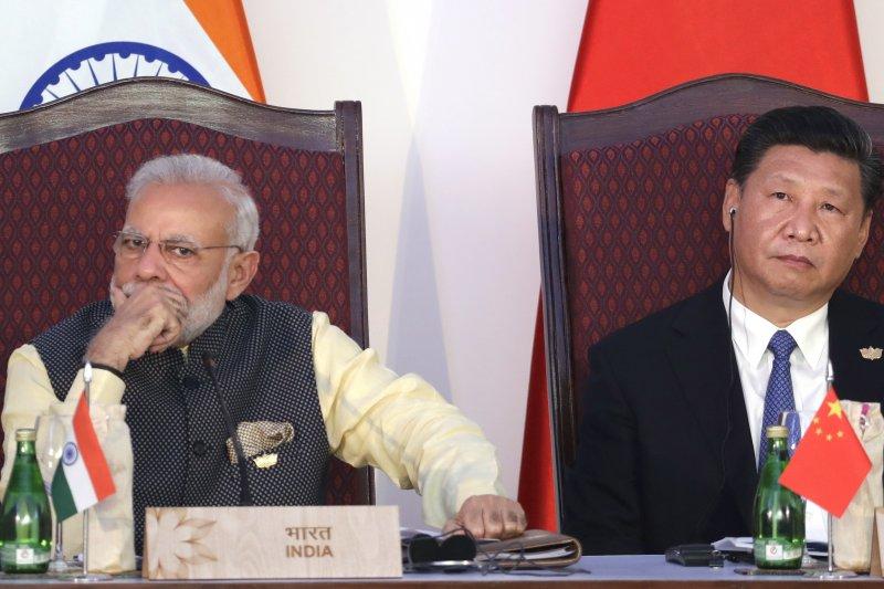 中國國家主席習近平(左)與印度總理莫迪(AP)