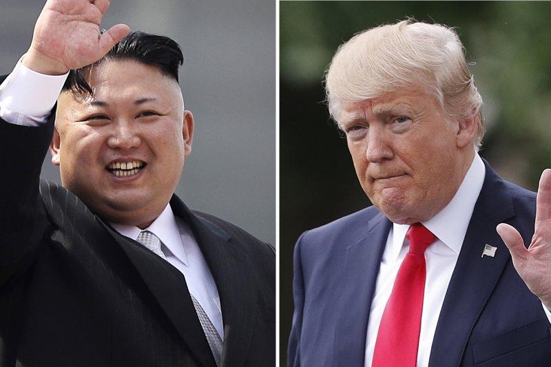 北韓最高領導人金正恩與美國總統川普近日舌戰,互撂狠話(AP)