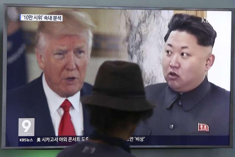 金正恩與川普,北韓最高領導人金正恩與美國總統川普劍拔張(AP)