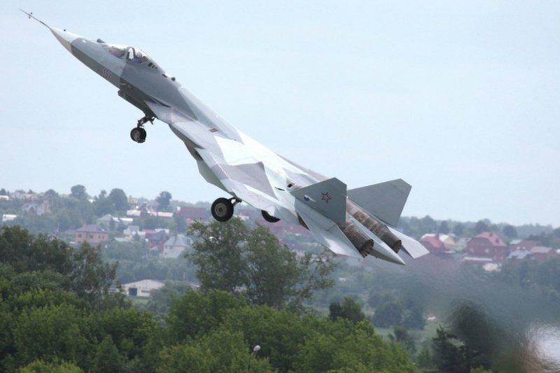 Su-57(T-50)。(俄羅斯衛星網)