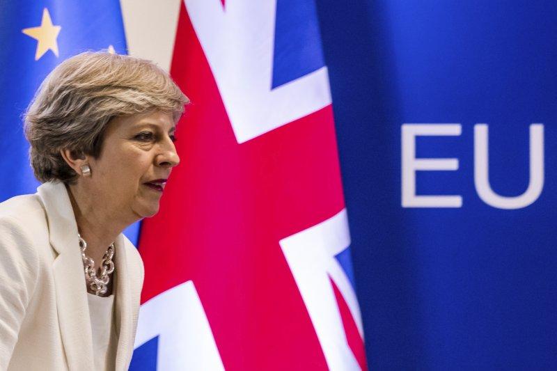 英國政府建議在脫歐後與歐盟建立臨時關稅協定及其他貿易協定。(美聯社)