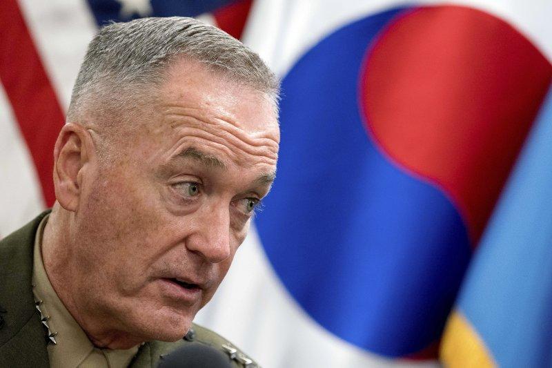 北韓打關島:美國參謀首長會議主席鄧福德(AP)