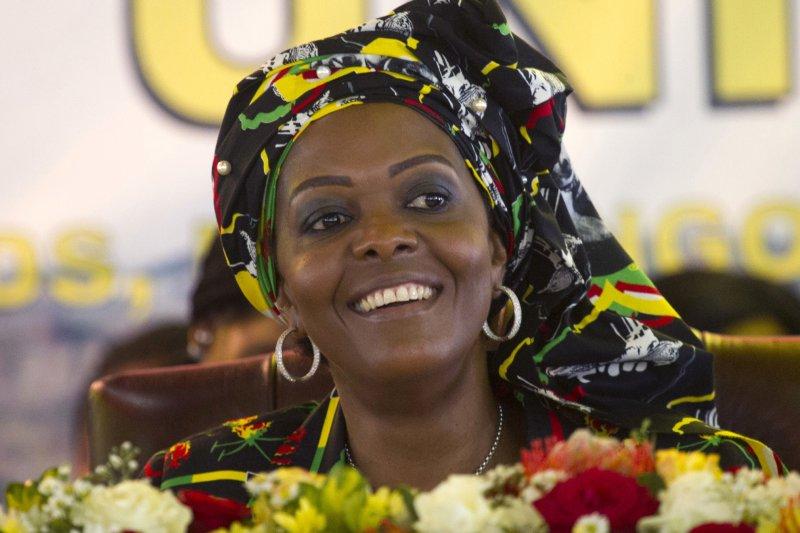 辛巴威第一夫人葛雷絲穆加比。(美聯社)
