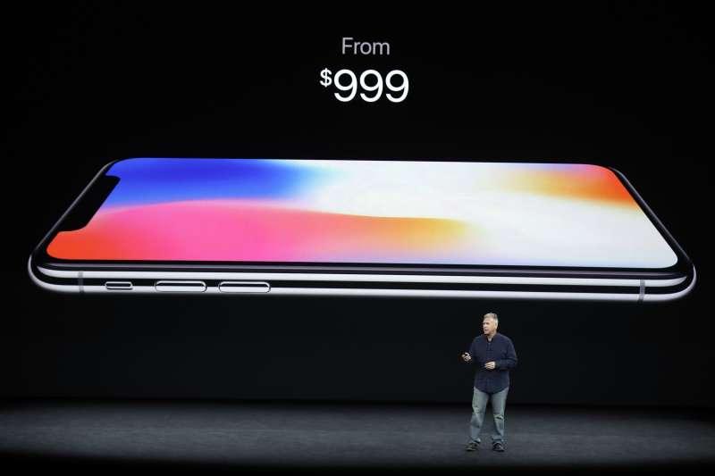 蘋果推出新款iPhone X,999美元起跳,中國售價比台灣貴(AP)