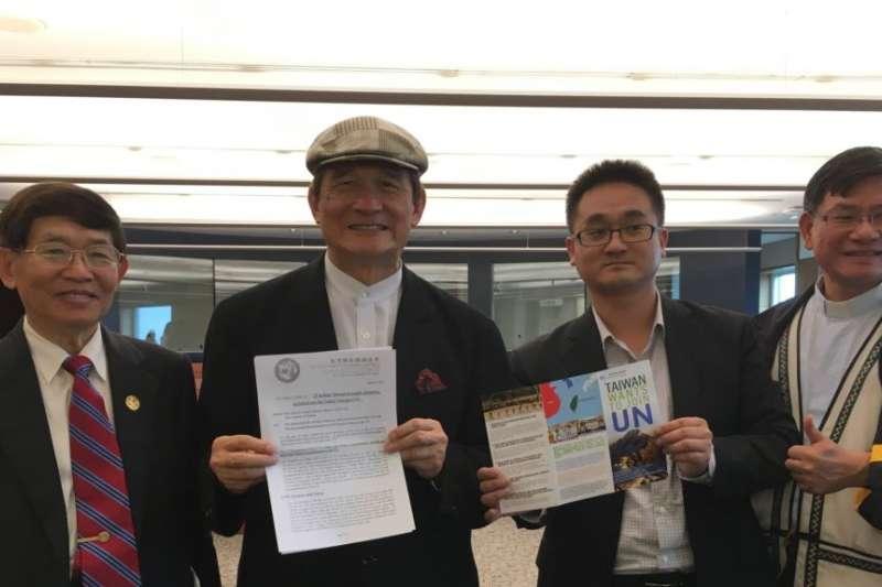台灣聯合國協進會宣達團成員(美國之音鐘辰芳拍攝)