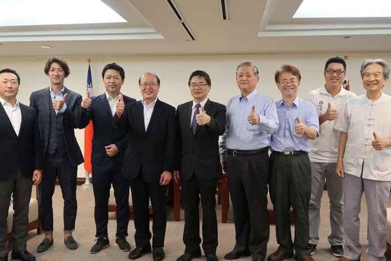 日本仙台七夕足球隊拜訪臺南市。 (圖/台南市體育處提供)