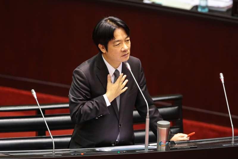 20170926-行政院長賴清德26日首度至立院進行施政報告總質詢。(顏麟宇攝)