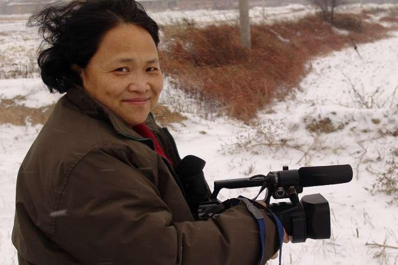 2007年初在河北邢臺農村採訪。(胡杰拍攝/艾曉明工作室博客)