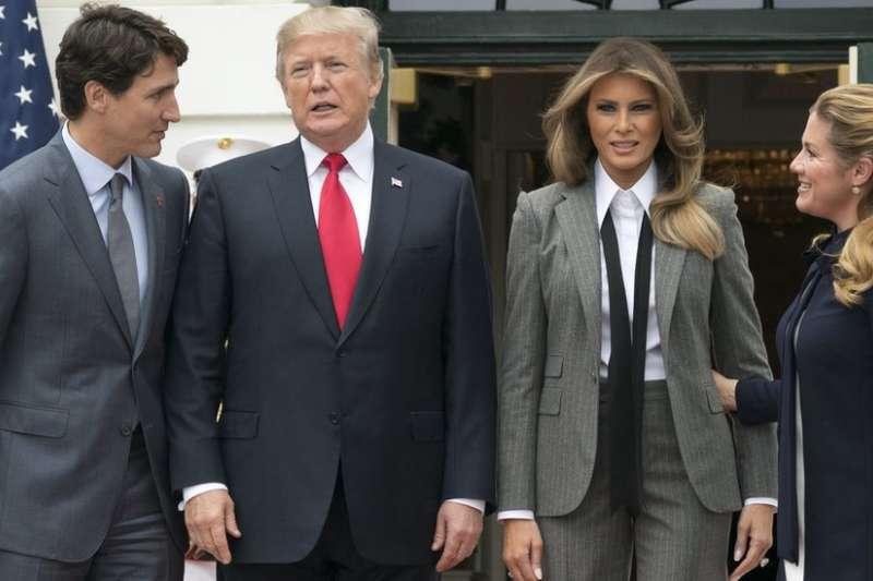 川普在會見到訪的加拿大總理杜魯道時,也批評了NBC的「假新聞」(BBC中文網)
