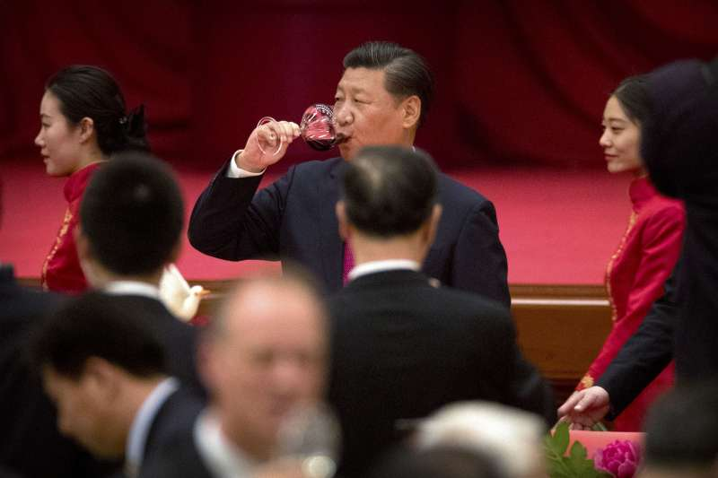 中共十九大前夕,領導階層國慶日聚會,習近平(AP)