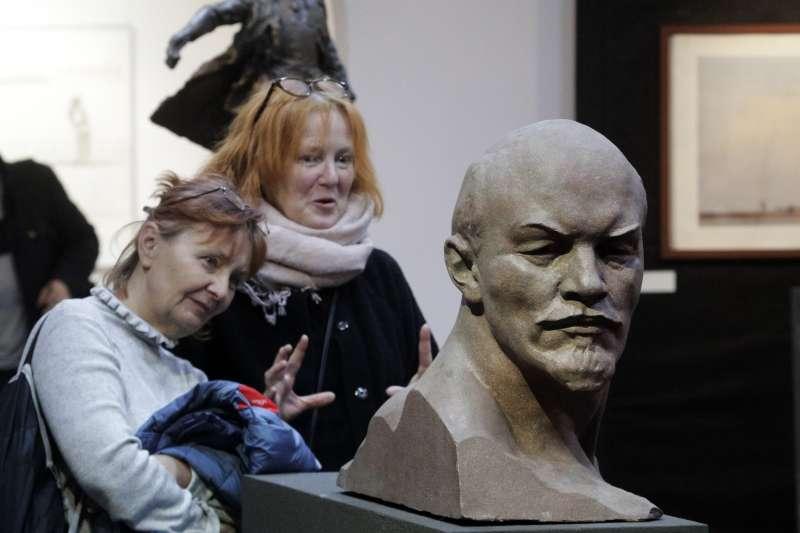 列寧雕像。(美聯社)
